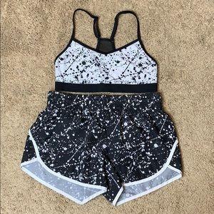 Danskin Now Women's Mesh Bra + Shorts Set